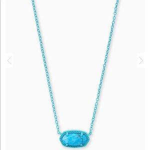 Kendra Scott Elisa Necklace Blue Aqua Howlite NWT